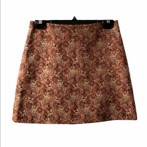 Vintage Tory Burch Asian Inspired Print Skirt